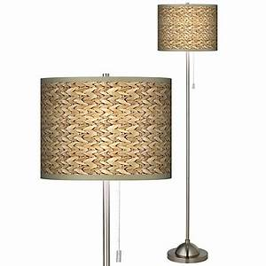 seagrass giclee shade floor lamp 99185 n1686 lamps plus With floor lamp with seagrass shade