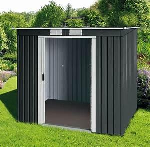 Gerätehaus Metall Flachdach : duramax ger tehaus metall pultdach pent roof 6x4 anthrazit ~ Michelbontemps.com Haus und Dekorationen
