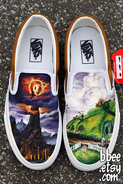 hand painted lord   rings shoes