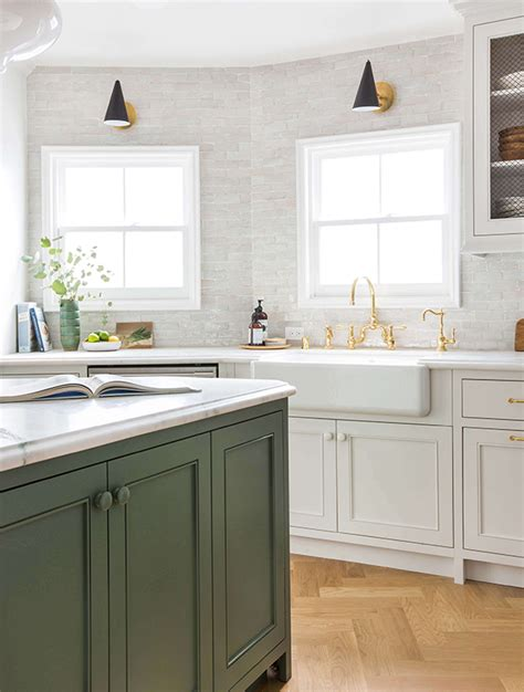 green grey kitchen cabinets bored of white kitchens discover the cabinet color 3993