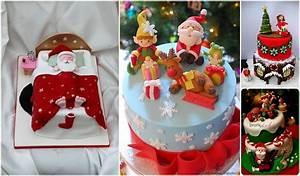 Idee Dessert Noel : gateau deco pate a sucre noel arts culinaires magiques ~ Melissatoandfro.com Idées de Décoration