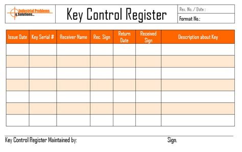 key control register