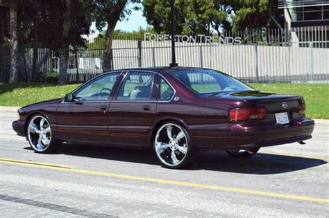 purchase   impala ss dark cherry metallic  long