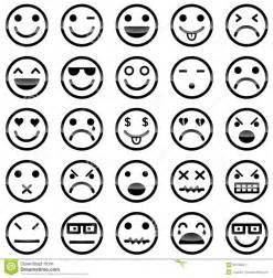 De Pictogrammen Van Smiley Stock Afbeelding Afbeelding
