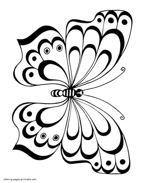 Coloring Images Of Butterflies by Butterfly Colouring Pages For Coloring Pages