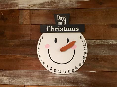 snowman countdown until christmas splintered design