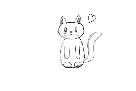 simple black  white cartoon kitten  artycomicfangirl