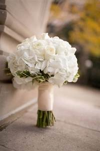 Classic bridal bouquet, ivory and white, lace, hydrangeas ...