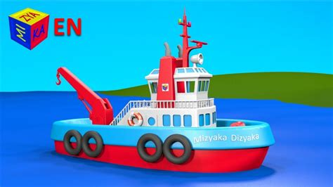 Tugboat Cartoon Name by Boats And Ships For Children Construction Game Tugboat