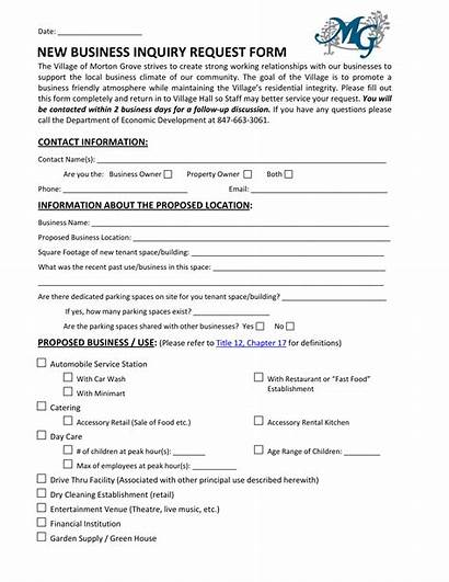 Inquiry Form Requisition Restaurant Business Enquiry Request