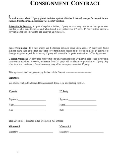 Free Consignment Stock Agreement Template by Free Consignment Stock Agreement Template Image