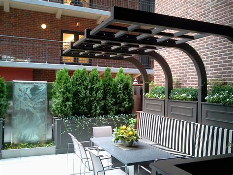 landscaping with pergolas chicago roof deck urban garden landscape design pergola outdoor furniture custom