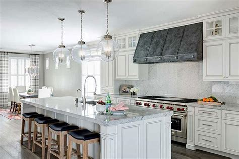 french white kitchen cabinets  zinc hood