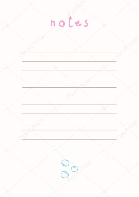 printable  note templates beautiful notes template