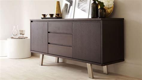 modern dark wood sideboard  cupboards  drawers uk