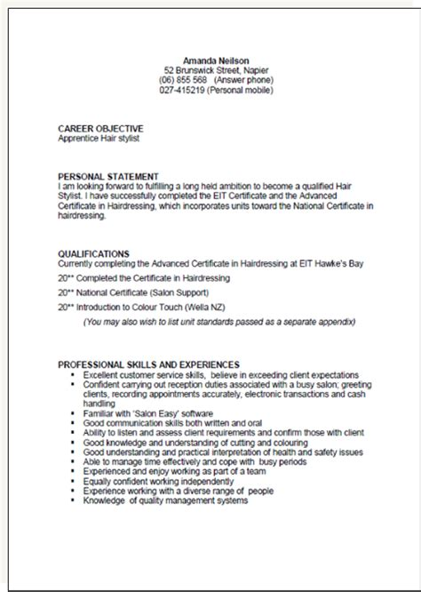 Personal Profile Ideas For Resume by Cv Exles Personal Statement Cv Exle