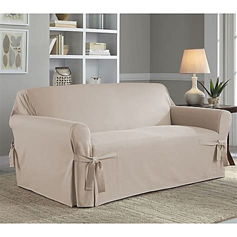 bed bath and beyond sofa covers perfect fit classic relaxed fit loveseat slipcover bed