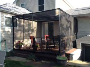 Enclosed Balcony Ideas by Deck Insect Screens Deck Privacy Screens