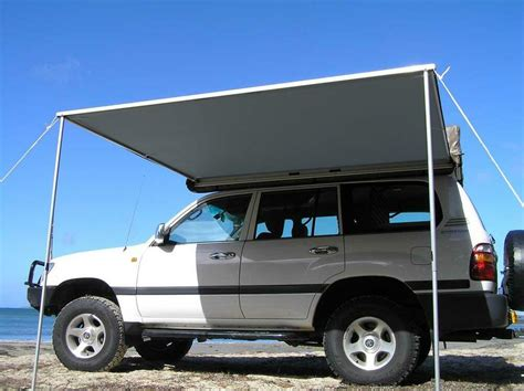 2.5m X 2m Pull Out Awning Roof Top Tent Camper Trailer 4wd