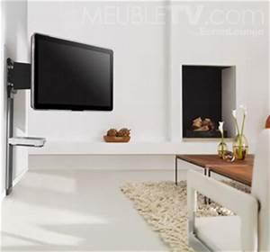 Fixation Murale Tv : photo support mural tv en bois ~ Melissatoandfro.com Idées de Décoration