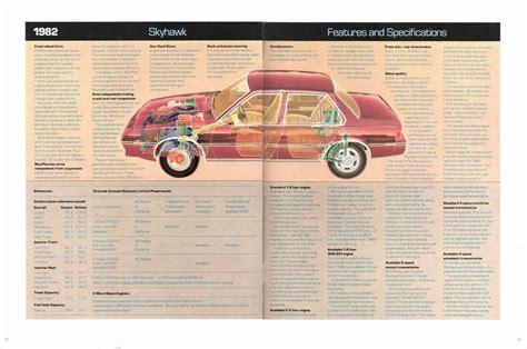 old car manuals online 1986 buick skyhawk lane departure warning 1982 buick skyhawk brochure