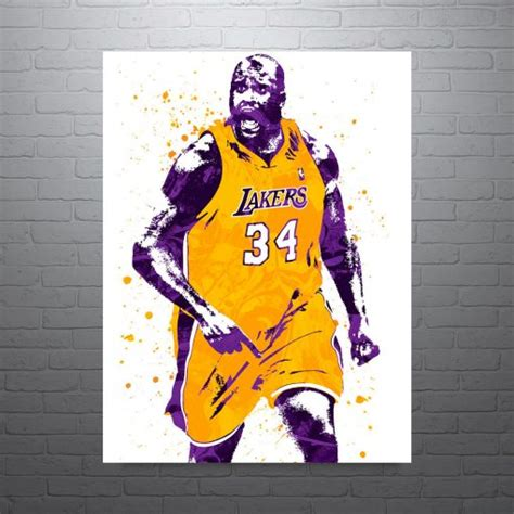 Shaquille O'Neal Los Angeles Lakers, Basketball Sports Art ...