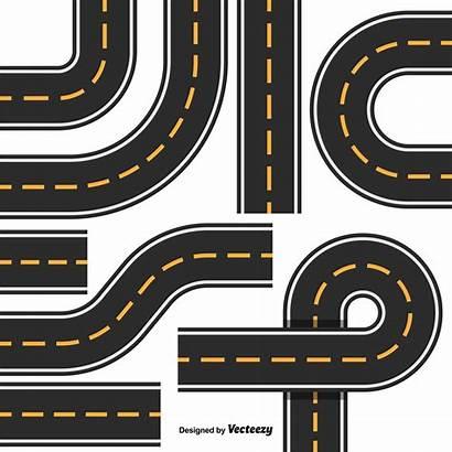 Road Vector Map Highway Parts Element Clipart