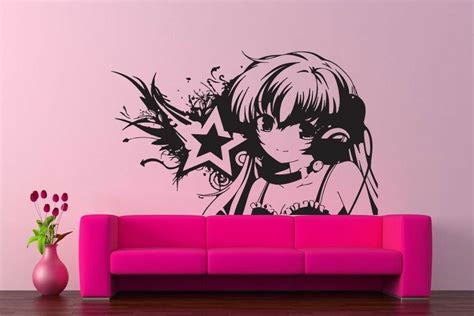 wall vinyl sticker decals kids room decor mural anime dj