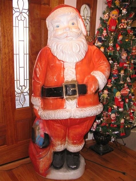 santa blow mold     ft tall vintage