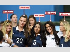 France WAGs get kitted up to show support in crowd as