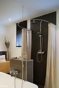 Duschvorhangstange Für Badewanne : duschvorhang freistehende dusche raum und m beldesign inspiration ~ Markanthonyermac.com Haus und Dekorationen