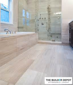 white oak 12 in x 24 in polished marble floor and wall tile