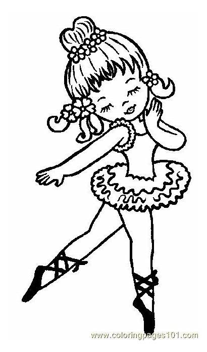 Coloring Pages Ballerina Dance Dancing