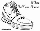 Coloring Shoes Basketball Pages Shoe Lebron Nike James Drawing Colouring Boys Printable Jordan Players Player Cool Getdrawings Yescoloring Getcoloringpages Sports sketch template