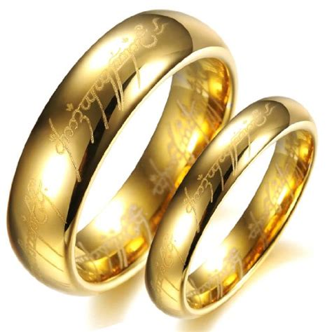opk jewelry fashion tungsten carbide couple rings 18k gold plated couple wedding rings