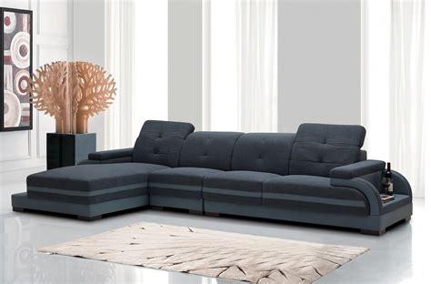 divani casa  modern fabric bonded leather sectional