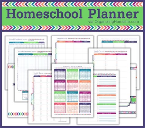 printable homeschool planner the expansion pack