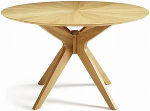 Serene Bexley Oak Dining Table - Round Fixed Top Serene