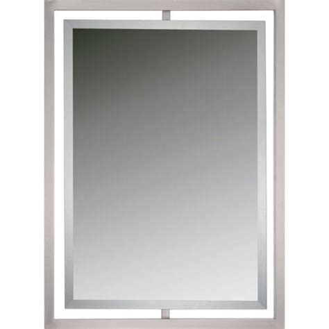 Nickel Framed Bathroom Mirror by Brushed Nickel Framed Bathroom Mirror Bellacor