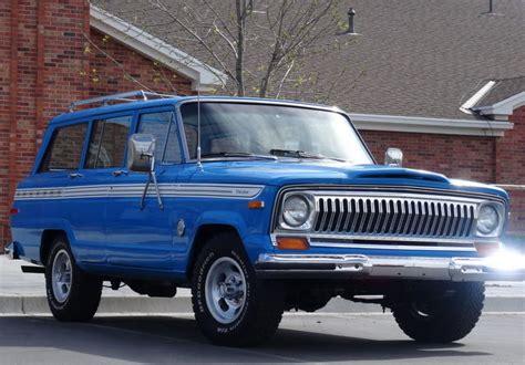 jeep cherokee chief blue rare 1978 jeep cherokee chief sport wagoneer 4x4 89k