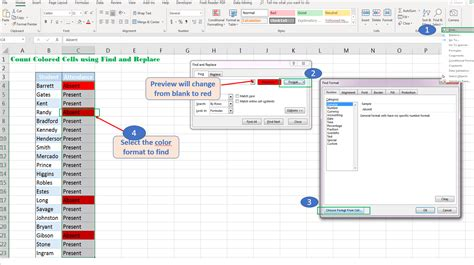 count excel cells  multiple colors  vba excelnumber