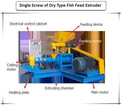 single screw fish feed extruder machine  fish pet