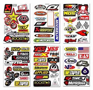 6 sticker sheets mixed racing logo sponsor motorbike With dirt bike sponsors