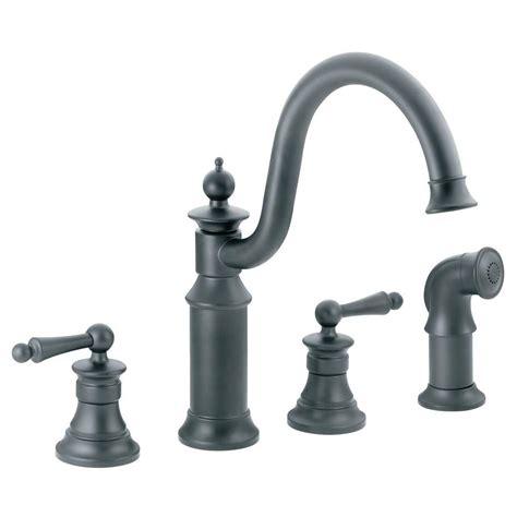 moen two handle kitchen faucet moen waterhill high arc 2 handle standard kitchen faucet