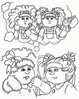 Cabbage Patch Coloring Pages Colouring Clipart Silhouette Sheets Cabage Items Dolls Printable Line Getdrawings Stuff Clip Popular Colour Library Clipground sketch template