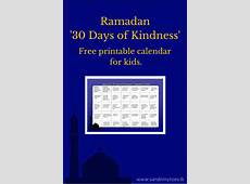 Busy Hands Ramadan Kindness Calendar for Kids Free