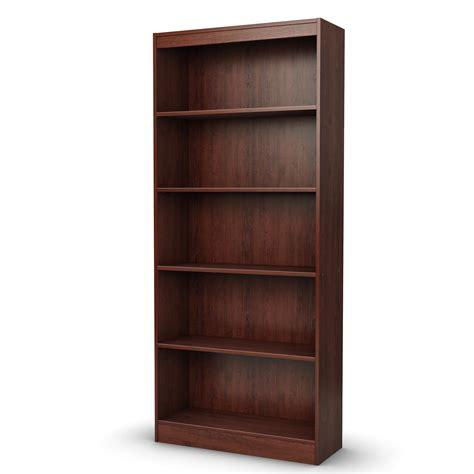 Brown Bookshelf 5 shelf bookcase black white gray brown storage bookshelf