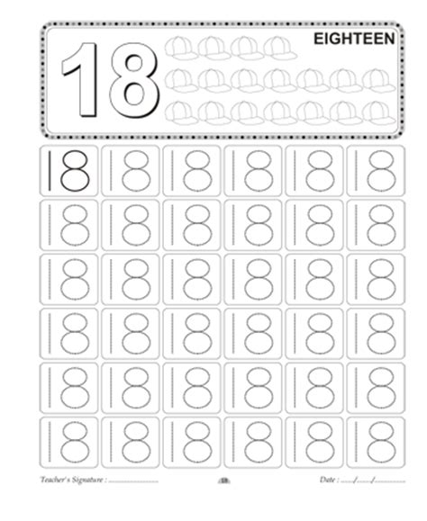All Worksheets » Number 18 Worksheets Preschool  Printable Worksheets Guide For Children And