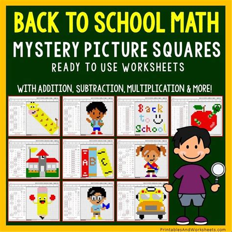school math coloring worksheets bundle