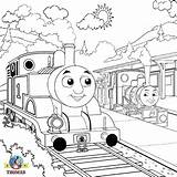 Coloring Thomas Train Steam Engine Tank Drawing Outline Locomotive Printable Percy Drawings Emily Railway Island James Adult Sodor Coloringfree Getcolorings sketch template